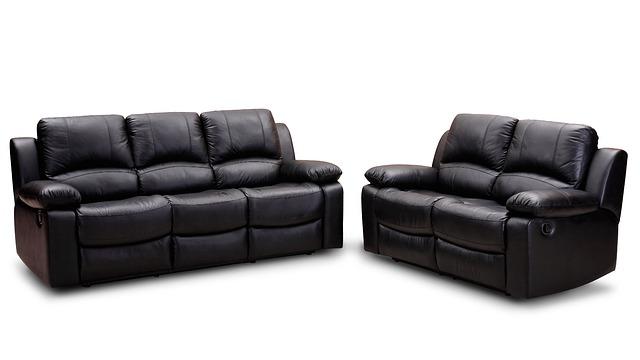 dvou kožená sedačka